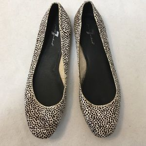 7 for all mankind Polka Dotted Calf Hair Flats